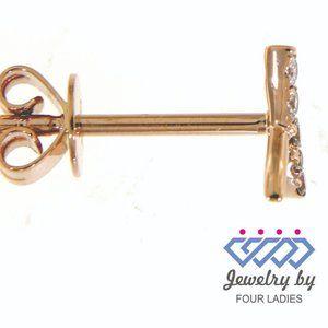 Diamond Cross Fancy Earrings 14K Rose Gold Jewelry